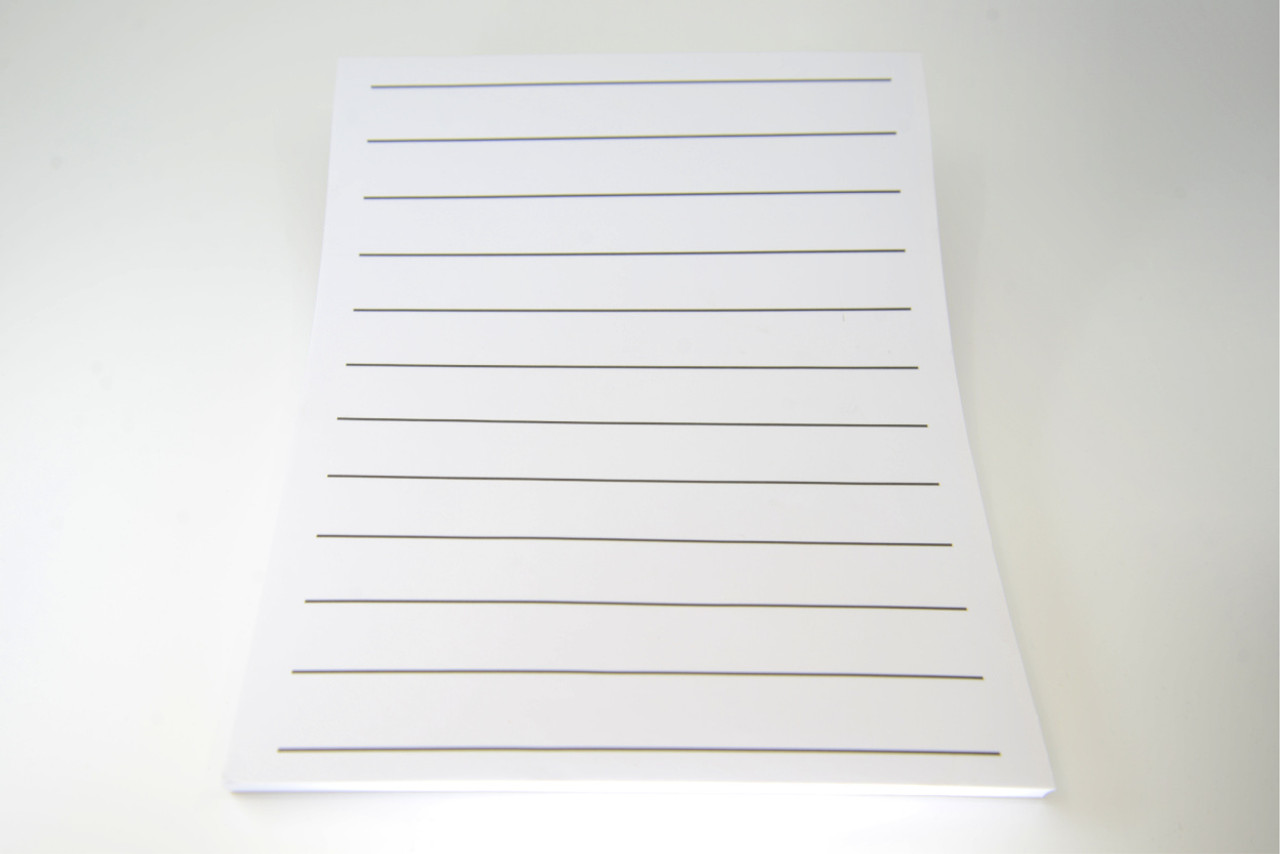 "Bold Line Writing Paper  7/8"" spacing, Double-Sided"