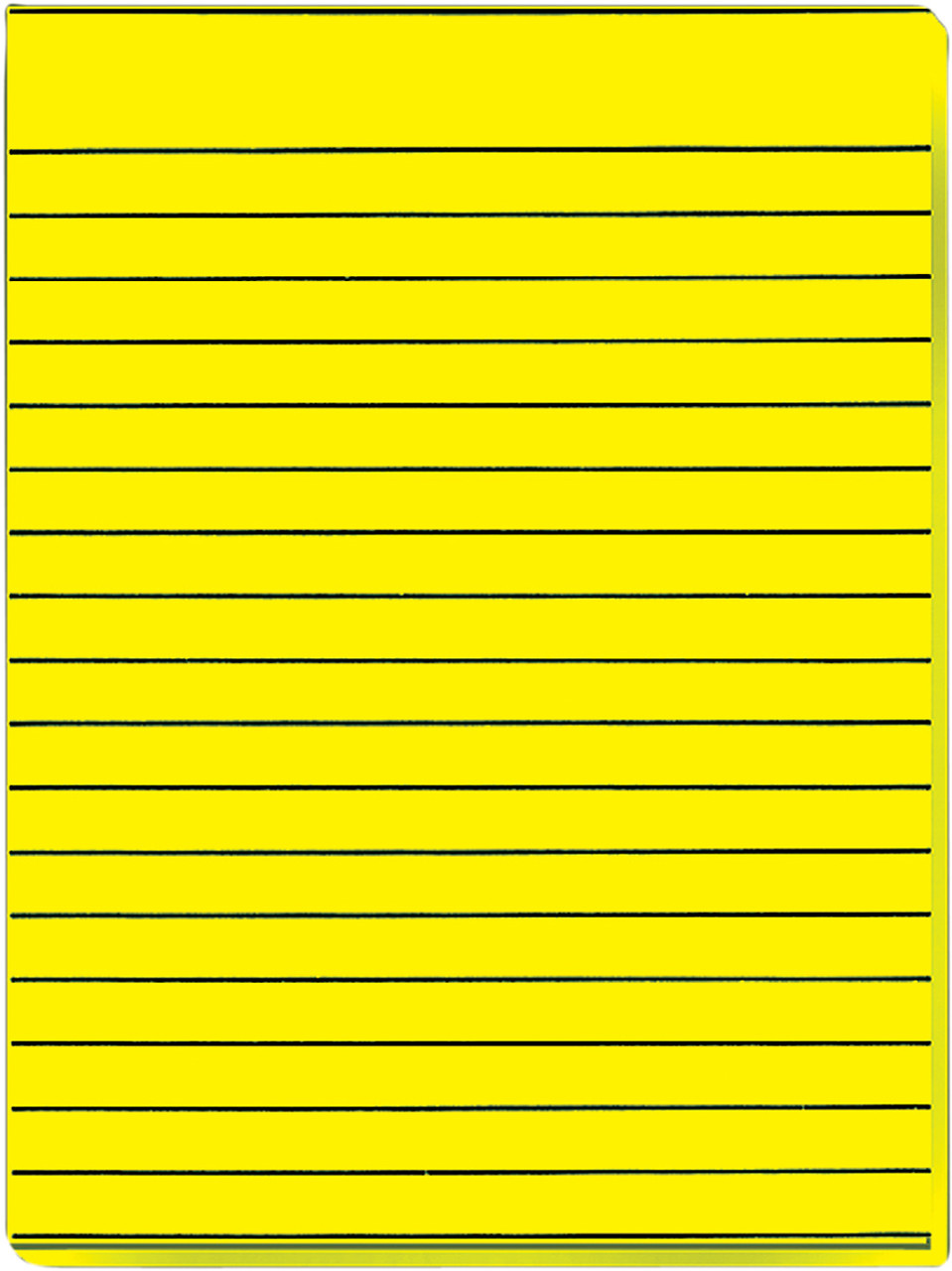 """Yellow Bold Line Writing Paper, 1/2"""" spacing, Double-Sided"""