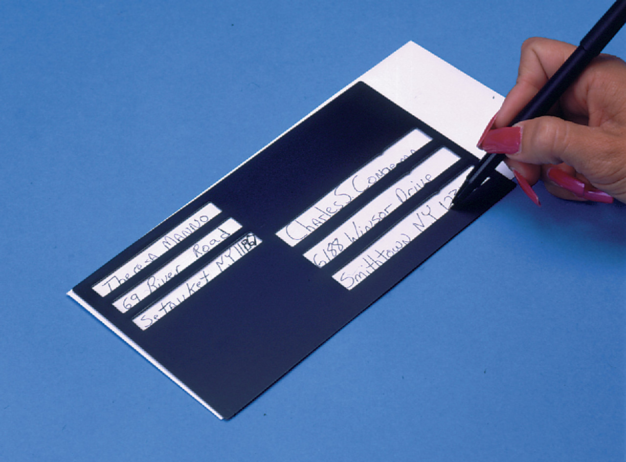 "Plastic Envelope Writing Guide 7.75"" x 4.25"""