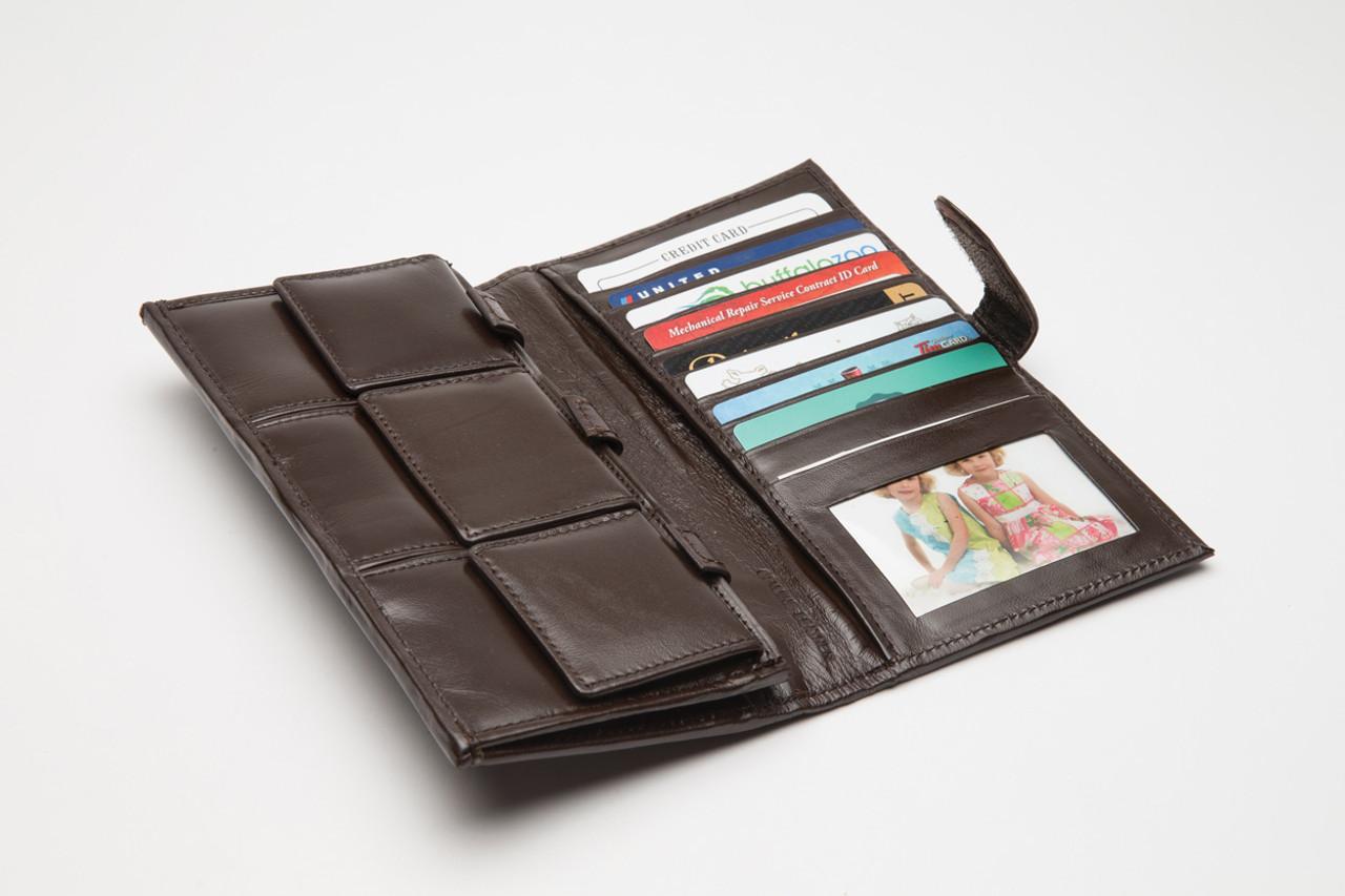 Brown Leather Organizer Wallet