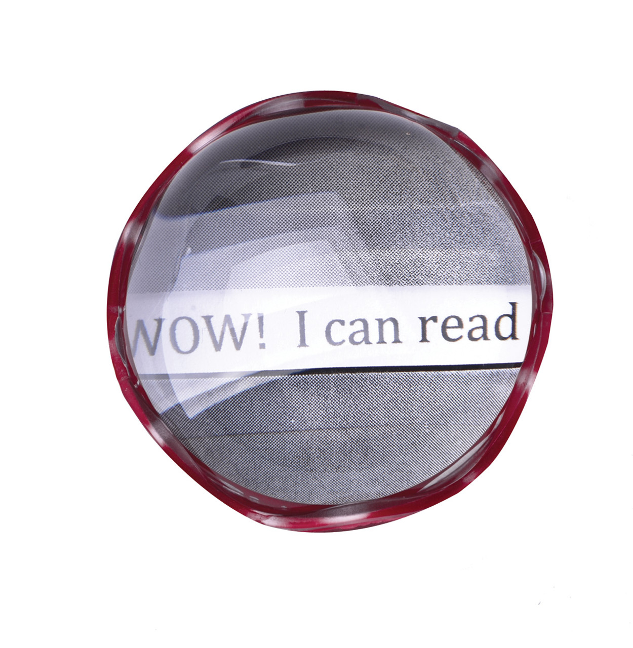 "1.7X COIL Visual Tracking Magnifier, 2"" Round, Red"