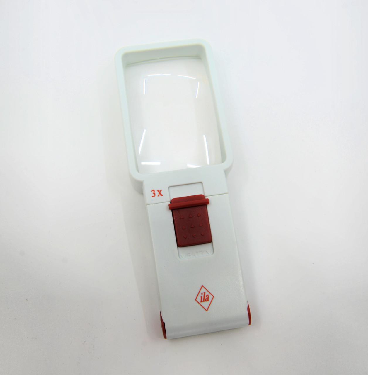 3X ila LED Hand Held Illuminated Magnifier