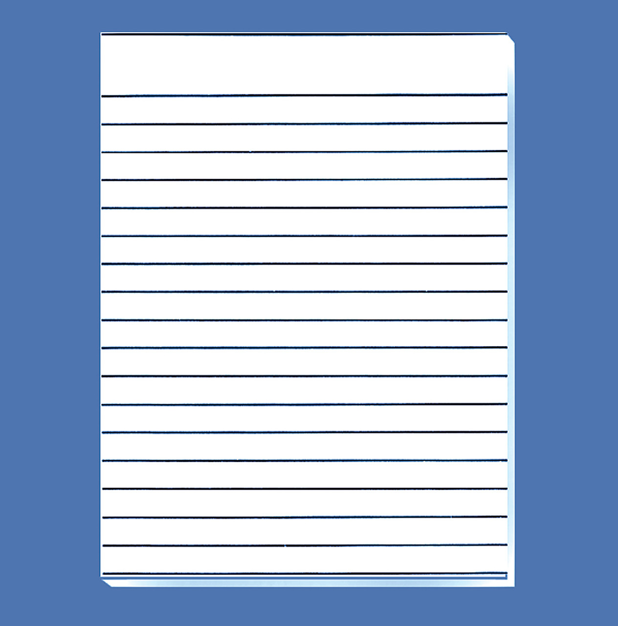 "Bold Line Writing Paper, 1/2"" Spaces, Double-Sided"