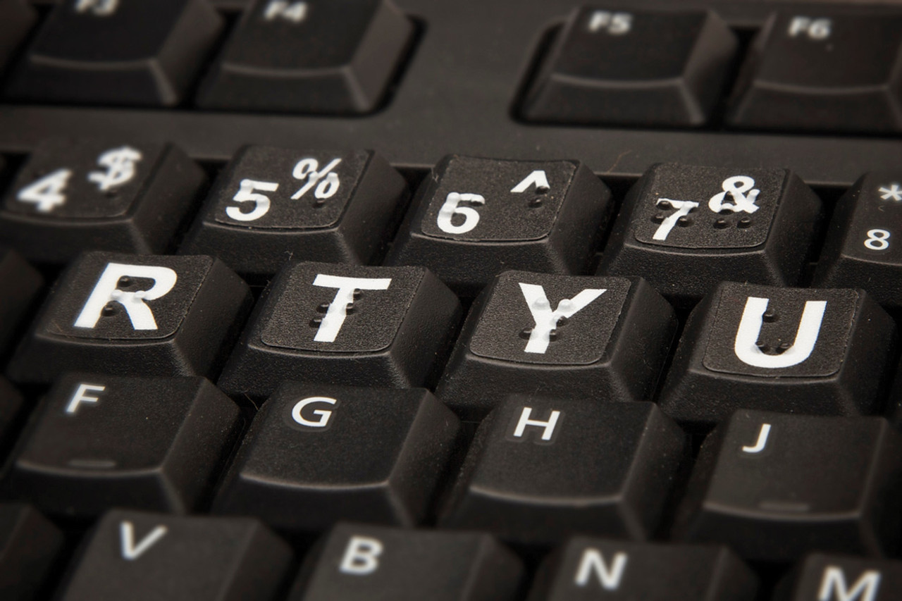 Low Vision/Braille Keytops