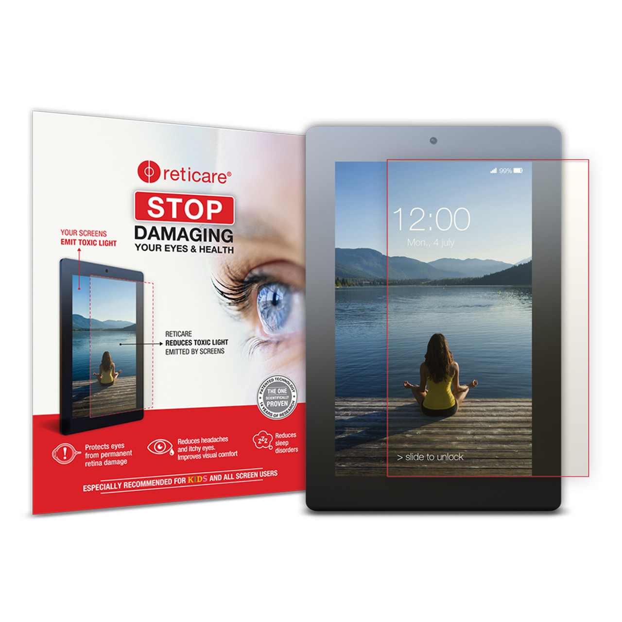 Reticare Universal Tablet Eye Protector