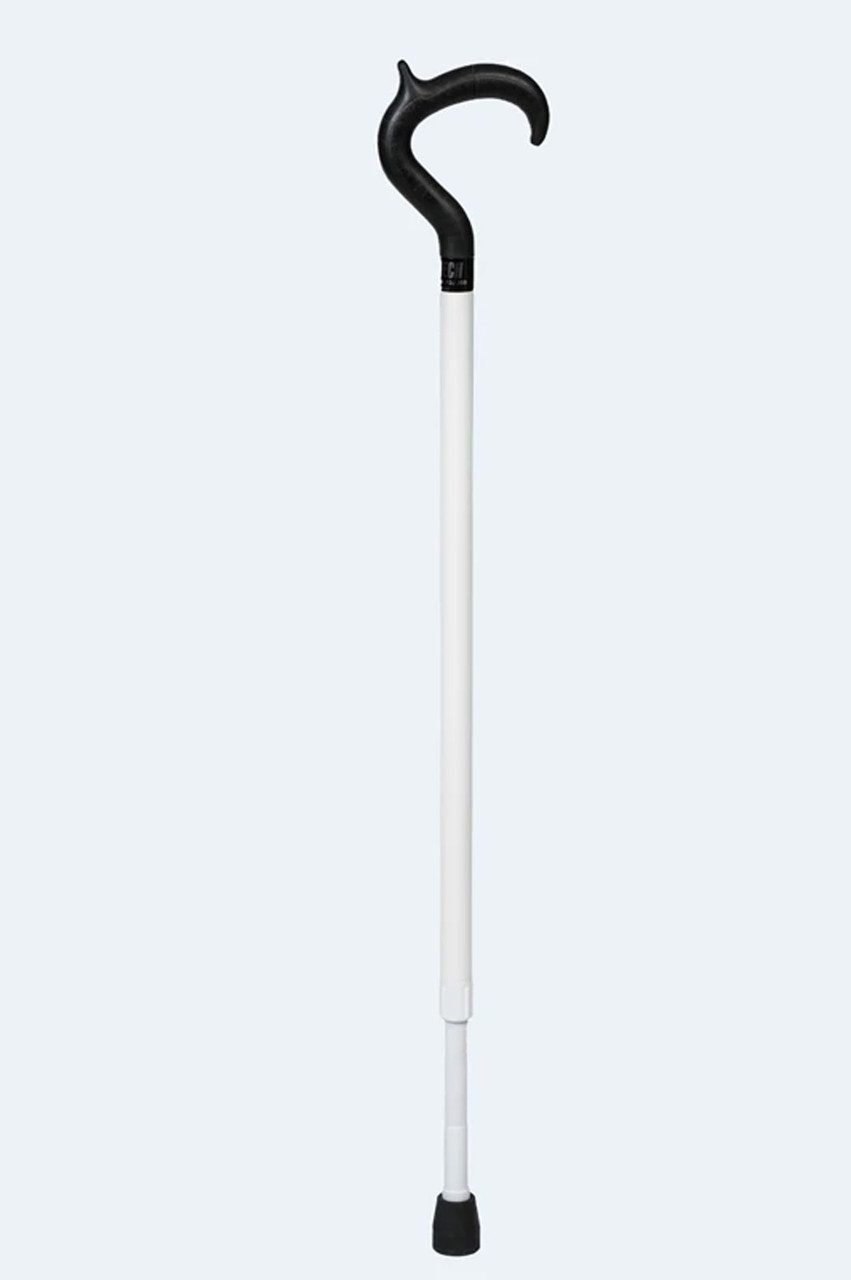 """AmbuTech White Support Cane (Modern Handle) 33 to 41"""""""