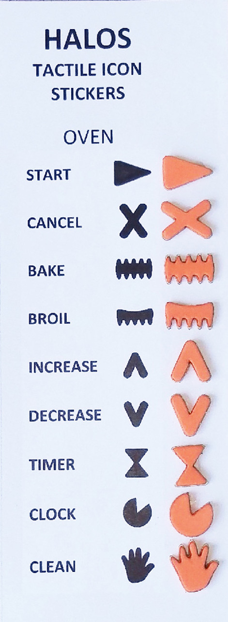 HALOS Tactile Oven Stickers - 2 sets per pack
