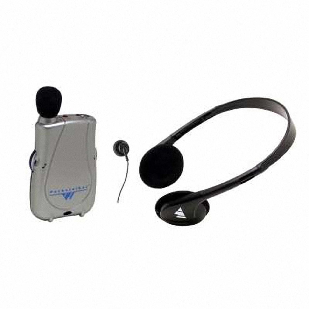 New Streamlined Pocketalker Ultra Personal Amplifier With Headset & Single Earbud