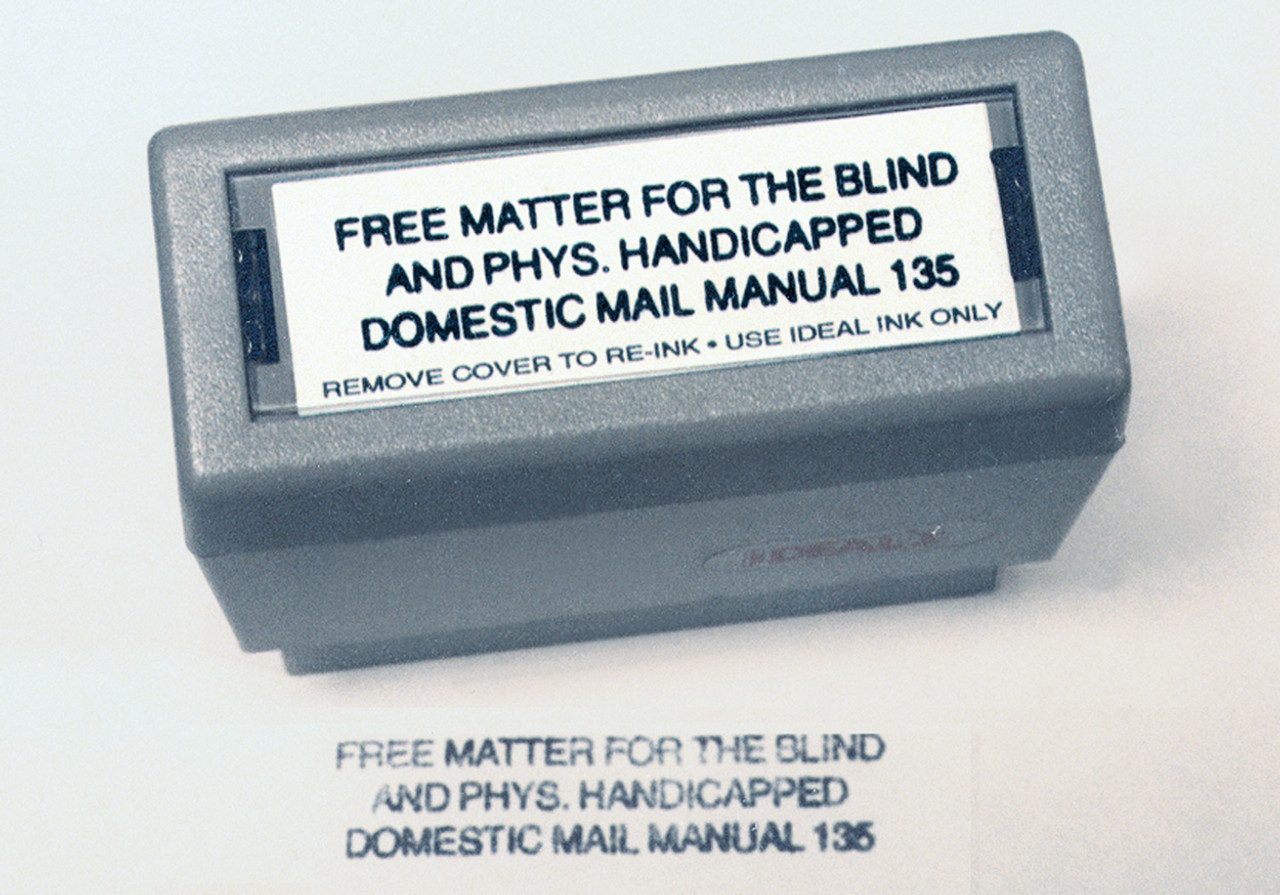 Free Matter for the Blind Self Inking Stamp