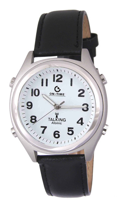 Atomic Talking Watch with Date and Fluorescent Hands