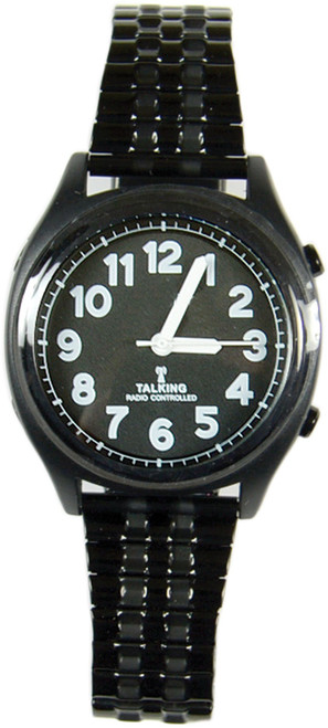 Talking Atomic Watch Black Face