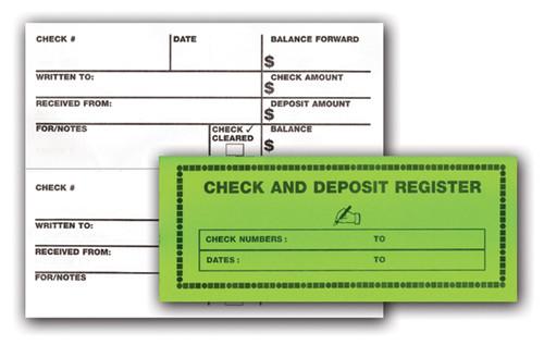 Large Print Check and Deposit Register