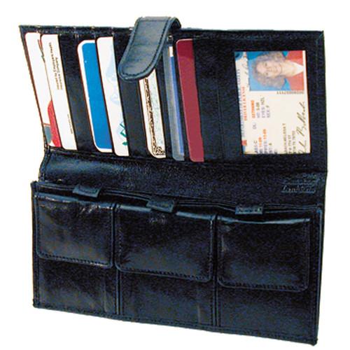 Black Leather Organizer Wallet