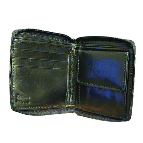 Zippered  Leather Organizer Wallet