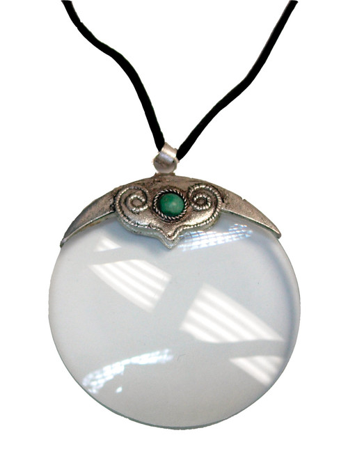 4X Pendant Magnifier with Turquoise Stone