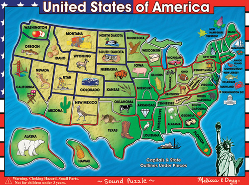 Brailled Talking USA Jigsaw Puzzle