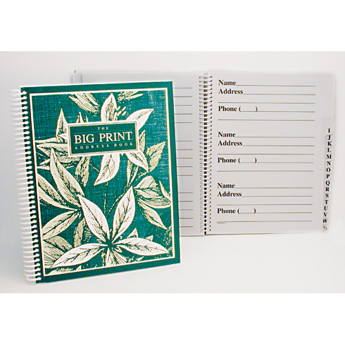 Big Print Address Book