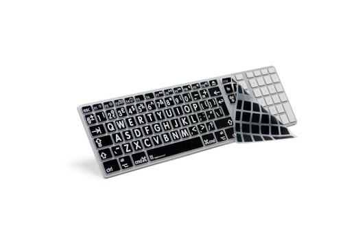 Large Print Apple Keyboard Skin White on Black