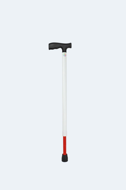 Ambutech White Support Cane Adjusts from 29 to 37 (T-Handle)