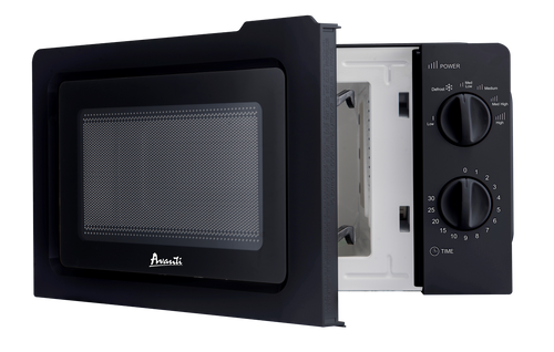 Microwave Oven With Manual Dials 0.7 Cubic Ft 700 Watts - Black