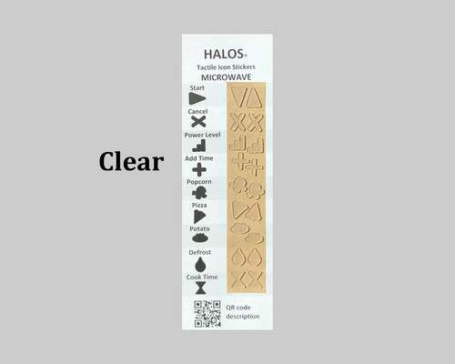 HALOS Tactile Microwave Stickers - Clear - 2 sets per pack
