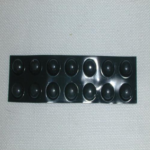 20 Medium Black Round Bump-Ons