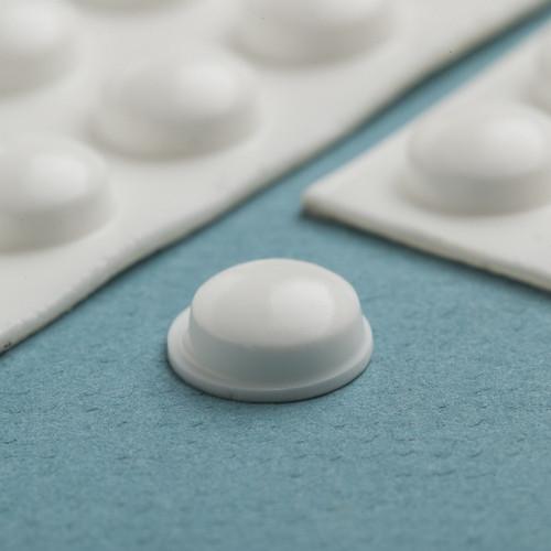 20 Medium White Round Bump-Ons