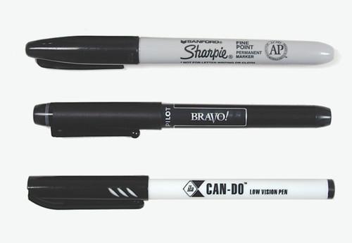 Low Vision Pens Sampler (3 Pens)