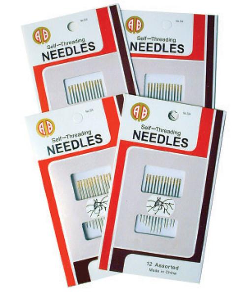 Self Threading Sewing Machine Needles # 80 (5pk)