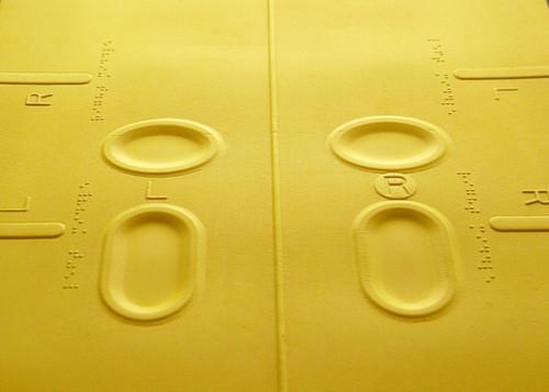 Tactile/Braille Yoga Mat w/2 Instructional CDs