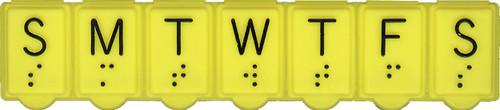 Brailled Weekly Pill Organizer