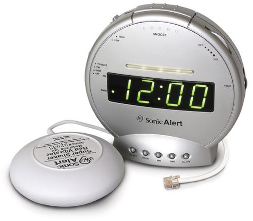 Alarm Clock with Built-in Ring Signaler & Bedshaker