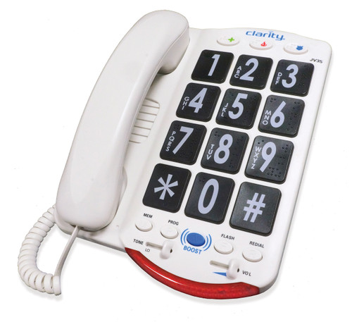 Clarity JV35 Amplified Phone w/Jumbo Black Buttons & Braille