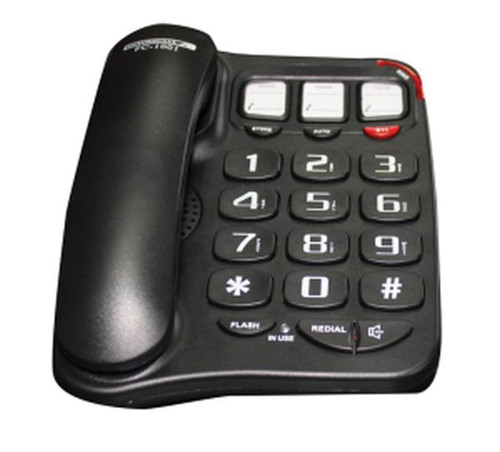 40dB Big-button Photophone/Speakerphone Black FC-1001B - Corded