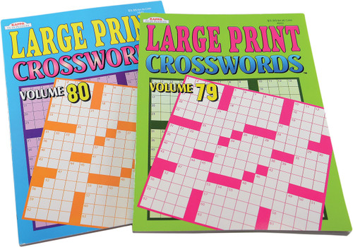 Large Print Crossword Puzzles 2-Pack