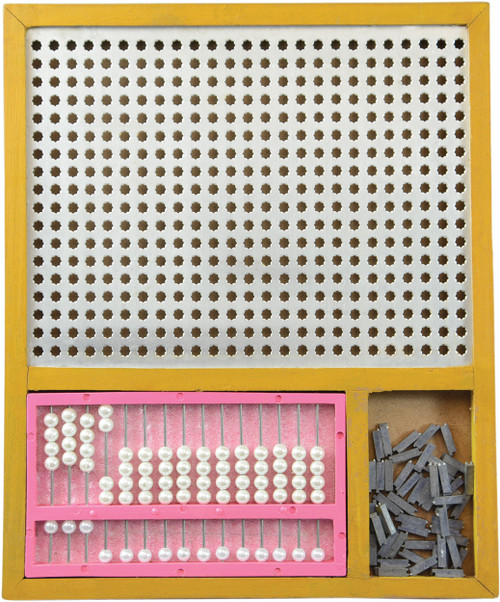 Combined Algebra Frame and 15 Row Abacus