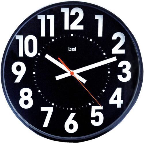 """15"""" Black Faced Wall Clock"""