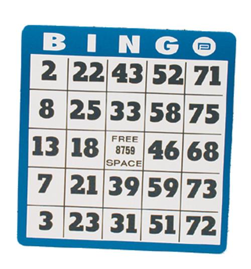 Low Vision Bingo Card