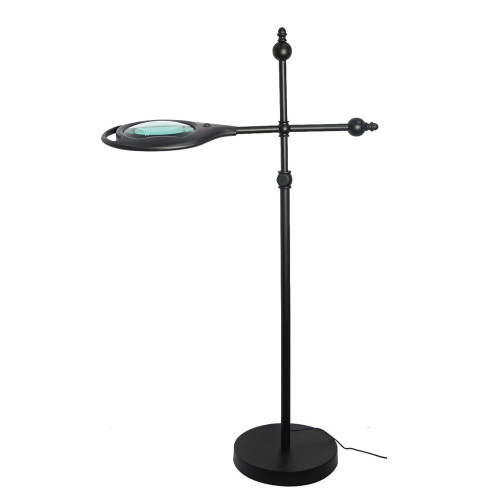 LED Floor Lamp with 2X Magnifier