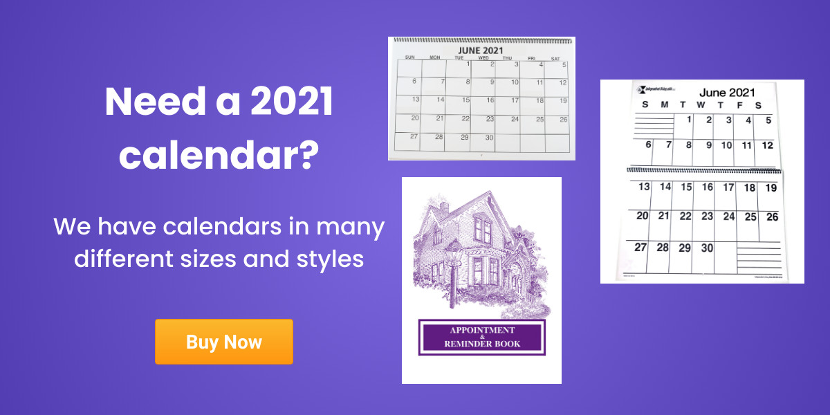 Do you need a 2021 large print calendar? Click here