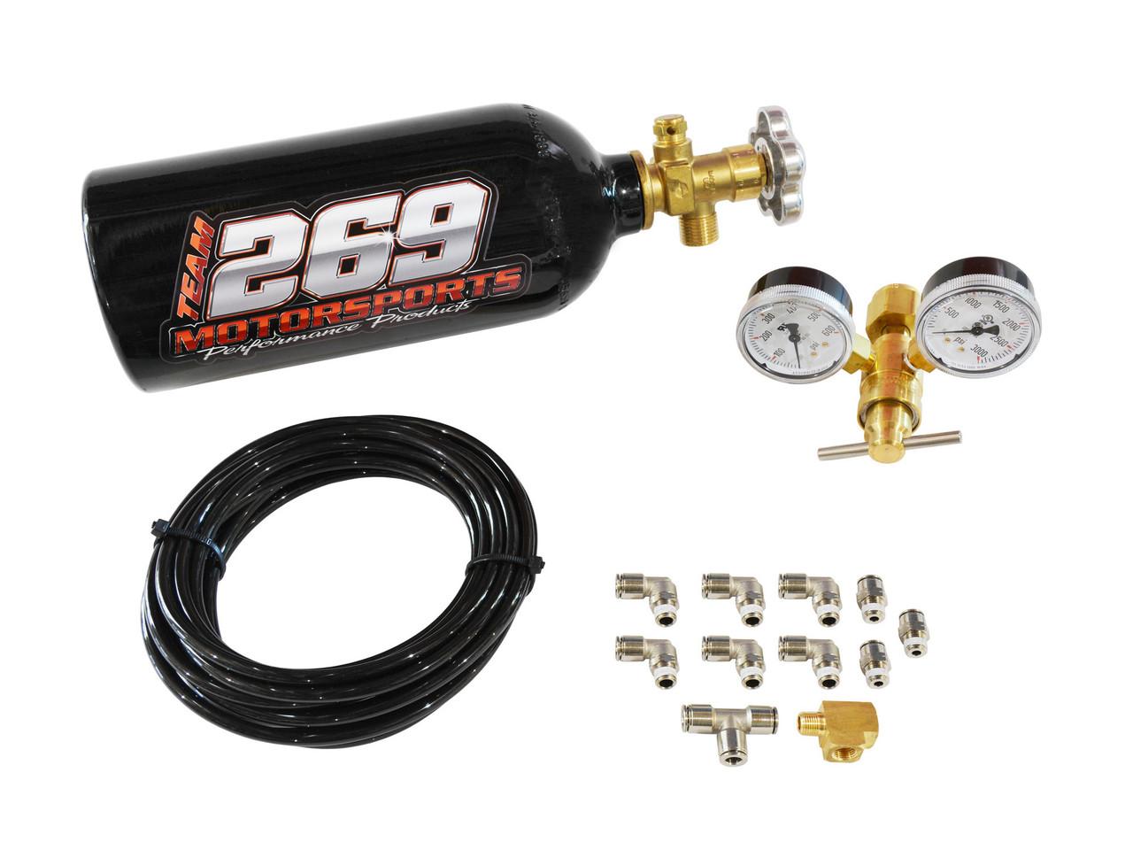 CO2 Single Wastegate Turbocharged Kit - Black Powder Coated