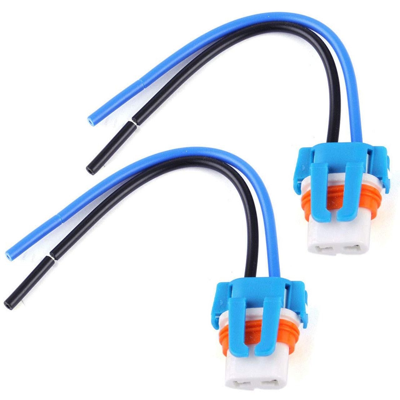 2 9006 HB4 Female Socket Wire Harness Bulb Holder Adapter Plug CERAMIC Connector
