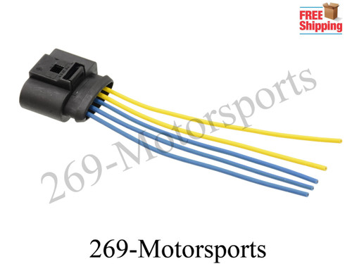 MAF 5 Pin Connector Adapter Mass Air Flow Sensor For VW Golf Replaces 1J0973775A