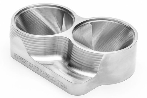 "Street Carr Fabrication Billet T4 Flange Dual 2.50"" Open Inlet (T4250DO)"