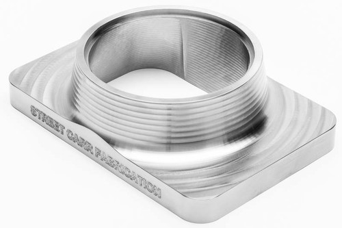 "Street Carr Fabrication Billet T6 Flange Single 3.00"" Open Inlet (T6300S)"