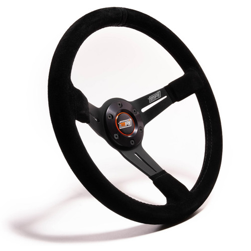 14in Wheel Black Suede 6-Bolt 3in Dished