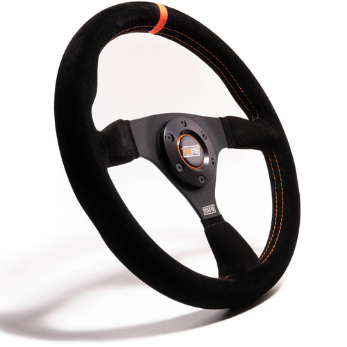 12in Wheel Black Suede 6-Bolt Aluminum
