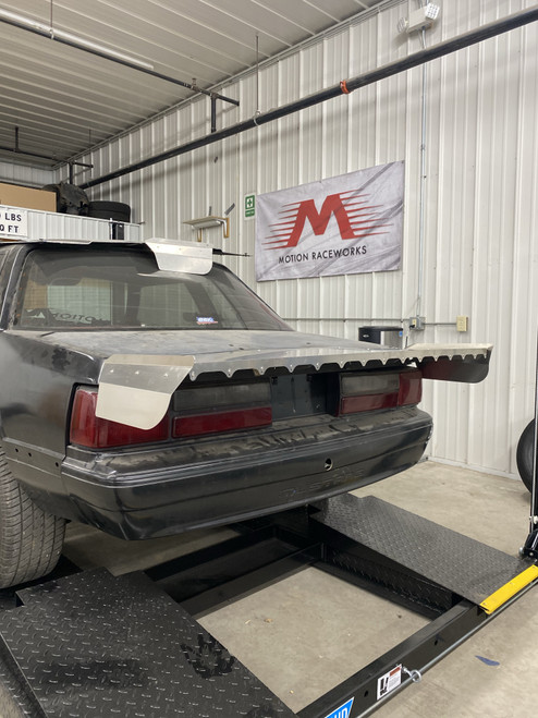 """Motion Raceworks Fox Body Mustang Coupe / Notch 15"""" Strutless Wing"""
