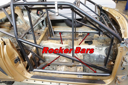 Rocker Bar Add-On for 1994-2004 Mustang Cage Kit