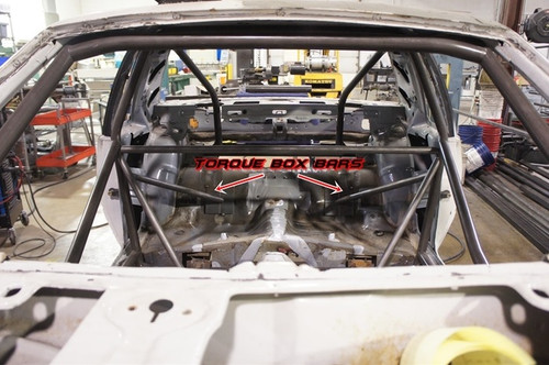 Torque Box Bars for 1979-1993 Mustang Cage Kit